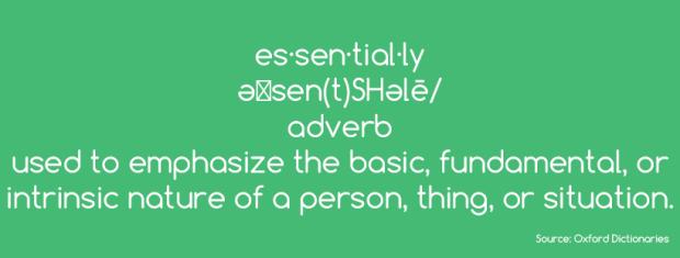 es-define-essentially